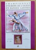 LUXEMBOURG * Mondorf 1989 Gedenkblatt - Feuillet  Ch. D'Europe En Danes Latines Timbre D'Oré - Tirage Limité N° 2022 - Luxembourg