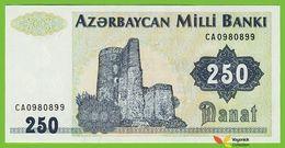 Voyo AZERBAIJAN 250 Manat ND/1999 P13b B303b CA UNC Maiden Tower - Azerbaïdjan