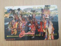 ST KITTS & NEVIS   GPT CARD $20,-   11CSKA     NO STK-11A  FOLKLORE GROUP CHRISTMAS 1995     Fine Used Card  **2346** - Saint Kitts & Nevis