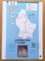 LUXEMBOURG * 1989 Gedenkblatt - Feuillet Départ Du Tour De France Signé Charly Gaul  Timbre D'Oré  Tirage Limité N° 2022 - Luxemburg