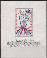 """CSSR, 1966, 1602 Block 23,  MNH **. Erstaufführung Der Oper """"Die Verkaufte Braut"""" - Blocs-feuillets"""