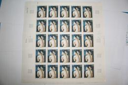FRANCE 1967 FEUILLE ENTIERE 1530 OEUVRES D ART LA BAIGNEUSE DE DOMINIQUE INGRES 1780 1867 PLANCHE ENTIERE - Feuilles Complètes