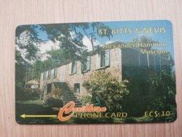 ST KITTS & NEVIS   GPT CARD $10,-   11CSKB     NO STK-11B  ALEXANDER HAMILTON MUSEUM      Fine Used Card  **2347** - St. Kitts & Nevis