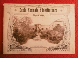 ECOLE NORMALE D INSTITUTEURS NIMES 1913 RARE ALBUM PHOTO  28 X 20 Cm - Albums & Collections