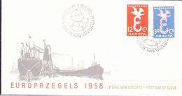 Niederlande Netherlands Pays-Bas - Europa (MiNr: 718/9) 1958 - FDC - Europa-CEPT