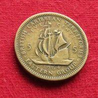 British Caribbean Territories 5 Cents 1964 KM# 4 *V1 Caraibas Caraibes Orientales Eastern - Ostkaribischer Staaten