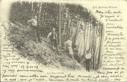Lorraine (France) Les Hautes Vosges, Les Schlitteurs, Cartes D'Autrefois, Reproduction - Lorraine
