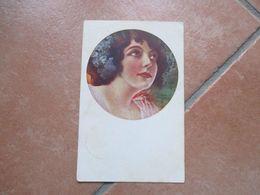DONNINE Woman Illustratore Cornice 1924 Timbro Arrivo PARENZO - Altri