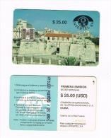 CUBA - INTERTEL CHIP  - 1993  REAL FUERZA CASTLE    - USED  -  RIF. 2734 - Cuba