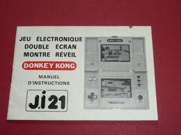 Rare Manuel D'instructions Vintage DONKEY KONG Jeu électronique Double Ecran Montre Réveil J.I 21 Nintendo - Elektronikspiele