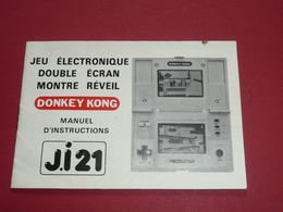 Rare Manuel D'instructions Vintage DONKEY KONG Jeu électronique Double Ecran Montre Réveil J.I 21 Nintendo - Otros