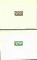 ALGERIA (1939) Caillié. Lavigerie. Duveyrier. Set Of 4 Deluxe Sheets With Protective Glassine Overlays. Scott Nos B28-31 - Autres