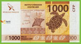 Voyo FRENCH POLYNESIA 1000 Francs ND/2014 P6 B106a Surfix B5 UNC Fauna - Territoires Français Du Pacifique (1992-...)