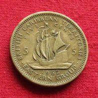 British Caribbean Territories 5 Cents 1962 KM# 4 *V1 Caraibas Caraibes Orientales Eastern - Caribe Oriental (Estados Del)