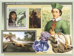 Saint Thomas 2008 Minerals Minéraux Fluorite Flourite Dinosaurs Dinosaures Nicolas STENON  MNH - Minerals