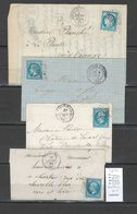 France - Lettre GC 2016 - Levallois Perret - Seine -  4 Piéces - 1849-1876: Classic Period