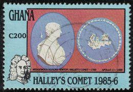 Ghana 1987 Oblitéré Used Isaac Newton Comète Halley SU - Ghana (1957-...)