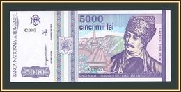 Romania 5000 Lei 1993 P-104 (104a) UNC - Rumänien