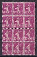 D166/ LOT N° 190 BLOC DE 12 NEUF** / VARIETE BANDE DE DROITE - Collections