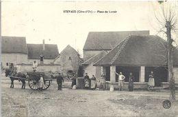 CPA Etevaux Place Du Lavoir - Autres Communes