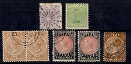 Fidji Sept Classiques 1872/1893. Bonnes Valeurs. B/TB. A Saisir! - Fidschi-Inseln (...-1970)