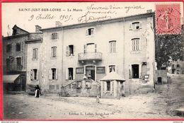 CPA 42 SAINT JUST SUR LOIRE St La Mairie - Saint Just Saint Rambert