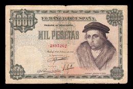España Spain 1000 Pesetas Luis Vives 1946 Pick 133 BC F - [ 3] 1936-1975 : Régence De Franco