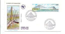 FDC 1995 PONT DE NORMANDIE - HONFLEUR - 1990-1999