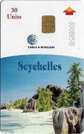 Seychelles - C&W Seytels (Chip) - La Digue, Chip Siemens S35, Reverse 'CPI 2010179', Mat Finish, 30U, 2001, Used - Seychelles