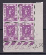 D167/ LOT N° 322 BLOC DE 4 COINS DATES NEUF** COTE 5€ - Collections