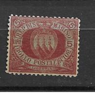 1892 MH San Marino Mi 21. - Saint-Marin