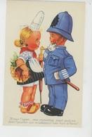 Illustrateur ENFANTS - LECLERC - Jolie Carte Fantaisie Enfants Policier Et Fillette Bretonne - Leclerc