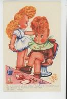 Illustrateur ENFANTS - LECLERC - Jolie Carte Fantaisie Fillettes Dans Salon De Coiffure - Leclerc