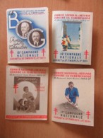 4 Carnets De Timbres / Vignettes Contre La Tuberculose - 16e à 18e Campagne Neufs Avec Gomme Et Complets, 1955 Incomplet - Antituberculeux