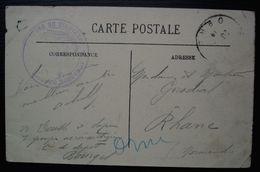 Bourges 1er Groupe D'aéronautique, Compagnie De Dépôt, Cachet Sur Carte Postale - Guerre De 1914-18