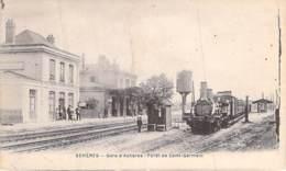 78 - ACHERES : La Gare - Forêt De Saint Germain ( Train à Vapeur En 1er Plan ) - CPA - Yvelines - Acheres