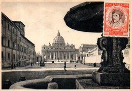 Poste Vaticane : Fisher Sur Carte Postale St Pierre De Rome - Vatican