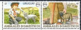 URUGUAY, 2018, MNH, UPAEP, DOMESTIC ANIMALS, LAMBS, DOGS,2v - Dogs