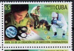 POLICE, 2018, MNH, CRIME INVESTIGATION UNIT, DOGS,1v - Chiens