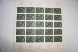 FRANCE 1966 FEUILLE ENTIERE 1479 OEUVRES D ART VASE CRATERE DE VIX PLANCHE ENTIERE - Fogli Completi