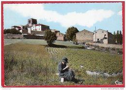 CPSM 42 CHAZELLES Sur LAVIEU Vue Générale Au 1er Plan à Droite La Colonie De Vacances C/ Saint-Jean-Soleymieux *  CPM - Autres Communes