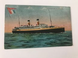 Carte Postale Ancienne S.S. ALSATIAN , ALLAN LINE - Dampfer
