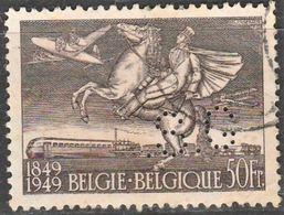 """Belgique.  Perfin"""".S.G"""" In Zegel N°810A - Perfins"""