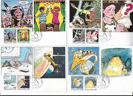 LOT 6 CARTES MAXIMUM Janv 1988 Série Complète La COMMUNICATION Par La Bande Dessinée - Cartes-Maximum