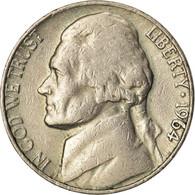 Monnaie, États-Unis, Jefferson Nickel, 5 Cents, 1964, U.S. Mint, Philadelphie - Federal Issues