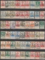 Belgique.  Albert I, Type Pellens,  81 Perfins - Perfins