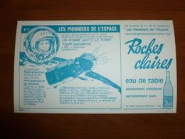 BUVARD ROCHES CLAIRES PIONNIERS DE L'ESPACE N°1 YOURI GAGARINE - Food