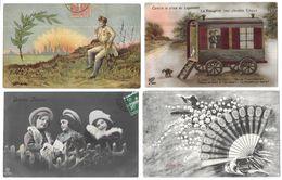 Fantaisies Gros Lot De 2000 CPA Fantaisies/Femmes/Enfants/Couples/Hommes/Gauffrées/... - Cartes Postales
