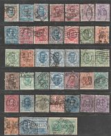 Italie.  Umberto I & Victor Emmanuel III,  38 Verschillende Perfins - Unclassified