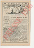 2 Scans Presse 1936 Humour Poisson D'Avril Sport Tennis Vintage Raquette Ancienne Beloutchistan Quota 229CH19 - Non Classés